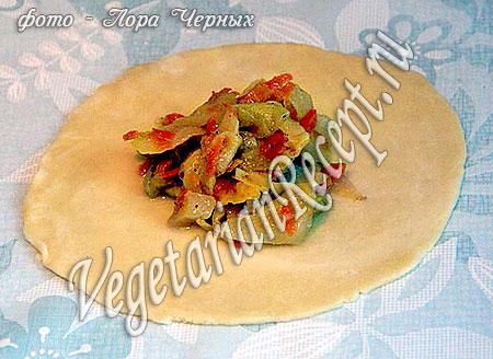 Бездрожжевые пирожки с капустой