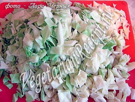 Капуста для осеннего салата (фото)