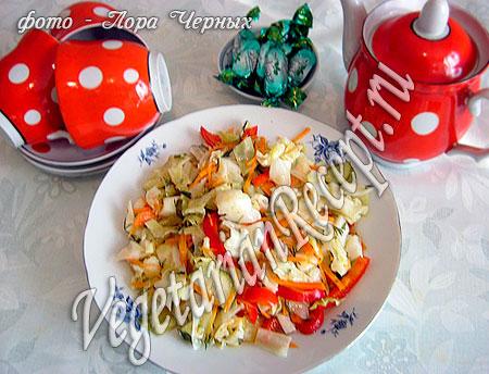 Осенний салат с цветной капустой