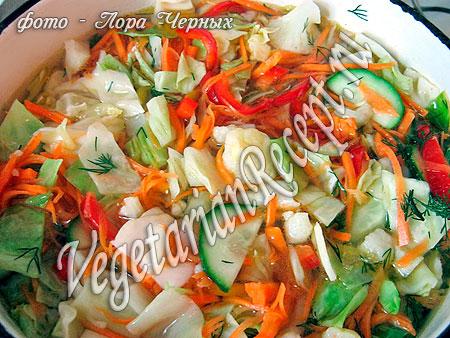 Салат с цветной капустой (рецепт)