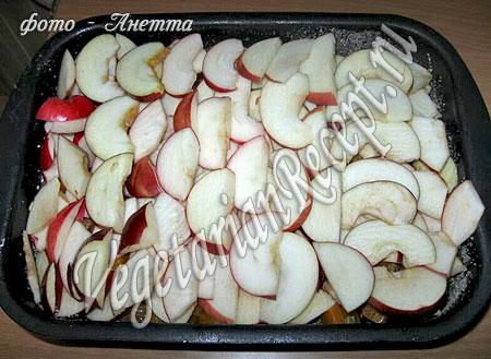 Запеченная тыква с яблоками - приготовление (фото)