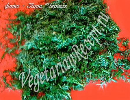Укроп для салата с цветной капустой (фото)