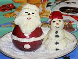 Дед Мороз и снеговик съедобные на Новый год