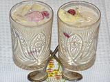 Ласси из ряженки с фруктами (рецепт)