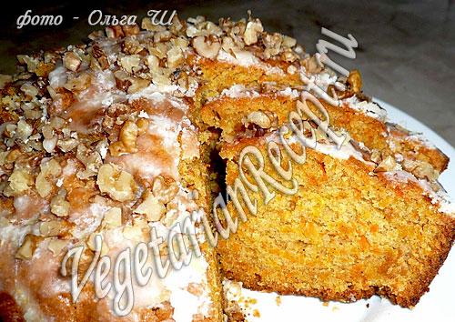 Морковный пирог (фото рецепт)