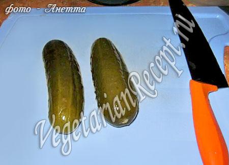Огурцы для вегетарианской солянки