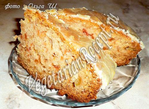 Пирог с яблоками (без яиц)