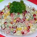 Салат с жареной картошкой и гранатом (фото)