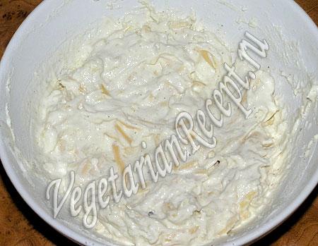 Сырная лепешка - тесто