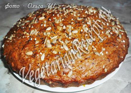 пирог с тыквой или морковью без яиц