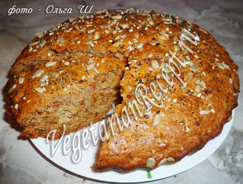 тыквенный (морковный) пирог без яиц