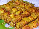 Овощной шашлык, жареный в тесте (рецепт)
