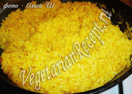 Рис с тыквой готов