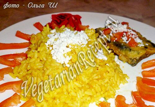Желтый рис с тыквой