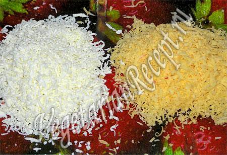 Салат Дед Мороз - натертый сыр