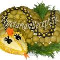 Салат Змея (рецепт с пошаговыми фото)