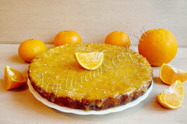 Апельсиновый бисквит с глазурью