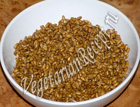 Рождественская кутья - набухшая пшеница