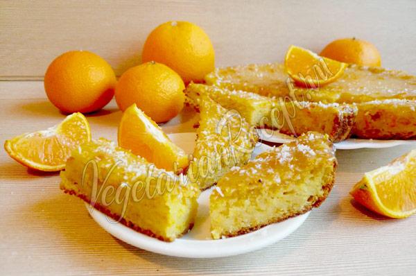 Рецепт апельсинового бисквита