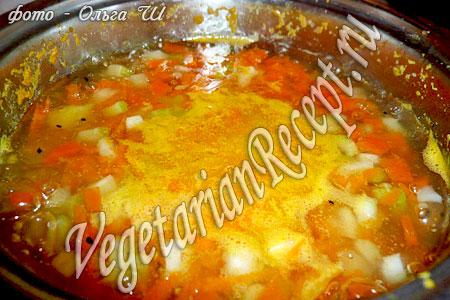 Приготовление супа из тыквы с сельдереем черешковым