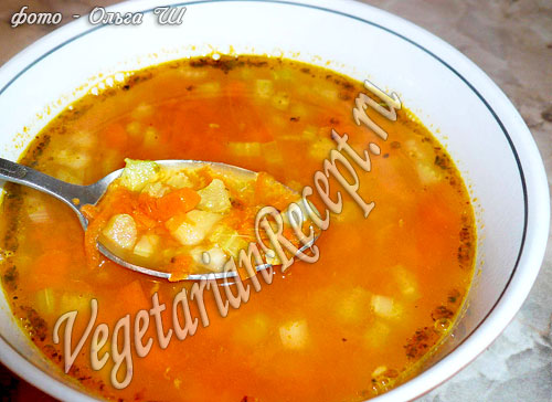 Суп из тыквы с сельдереем (фото-рецепт)