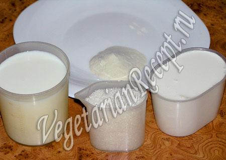 Продукты для приготовления панакоты