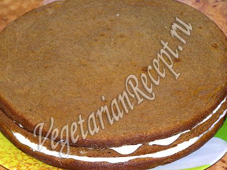 Сборка торта из коржей со сгущенкой