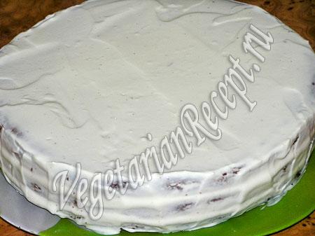 Торт из коржей со сгущенкой в креме