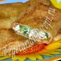 Блины с сыром и зеленью (фото-рецепт)