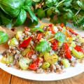Гречка овощами