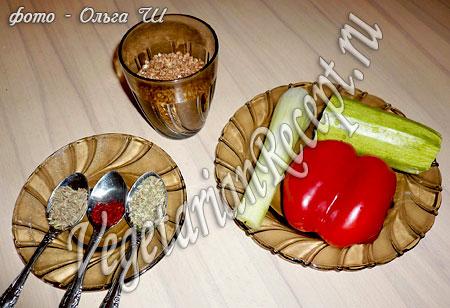Гречка с овощами - состав