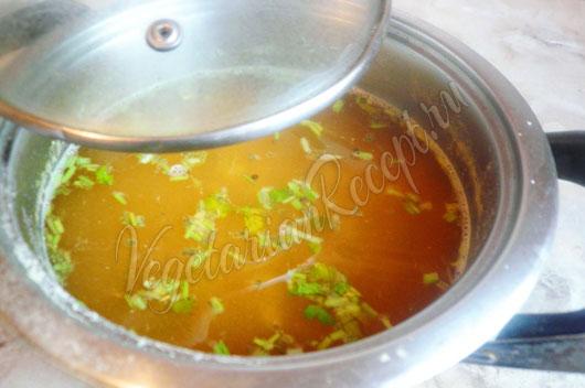 Постный суп из гороха