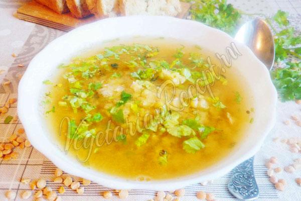 Постный гороховый суп - рецепт