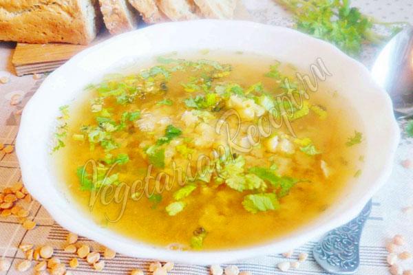 Гороховый суп с сельдереем и тмином, пошаговый рецепт с фото