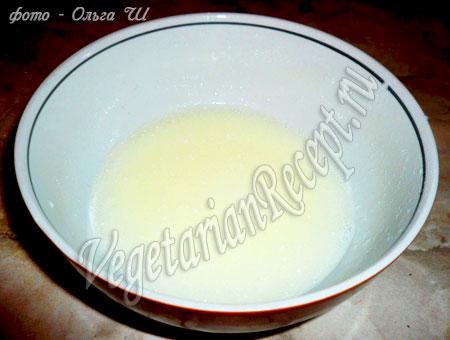 Маффины без яиц - жидкая смесь