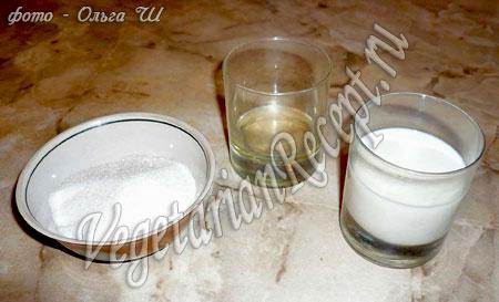 Ингредиенты для маффинов без яиц