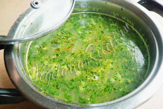 Суп с машем - рецепт со шпинатом