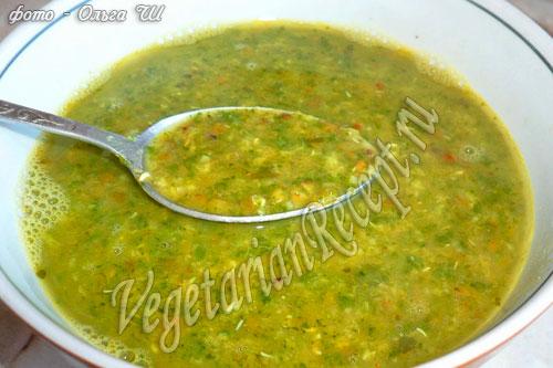 Суп с машем (рецепт со шпинатом)