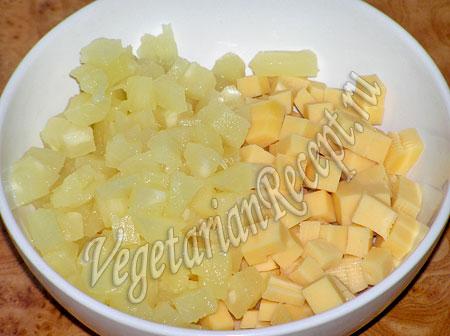 Ананас с сыром