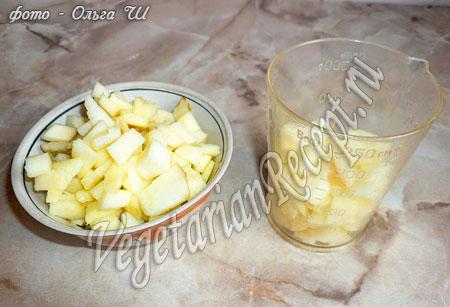 рулет из творога - яблоки для начинки