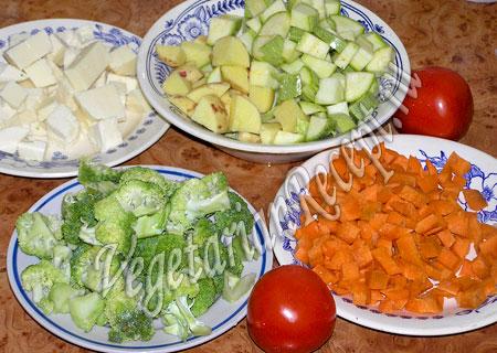 Тушеные овощи в мультиварке - ингредиенты