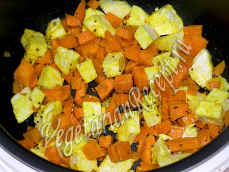 Морковь и сыр в мультиварке