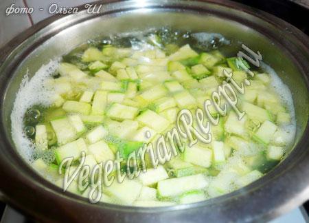 приготовление кабачкового супа пюре