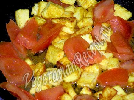 сыр с помидорами для приготовления нута
