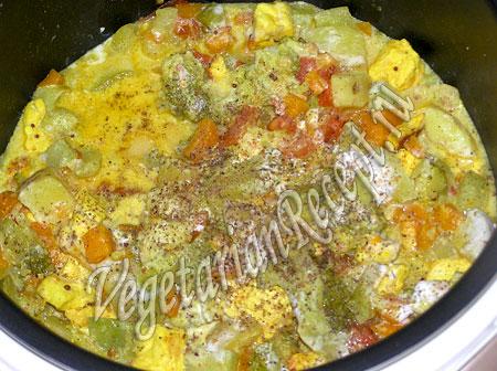рецепт тушеных овощей в мультиварке