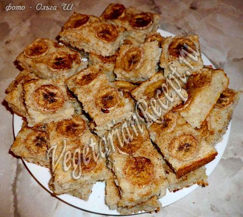банановые пирожные без яиц