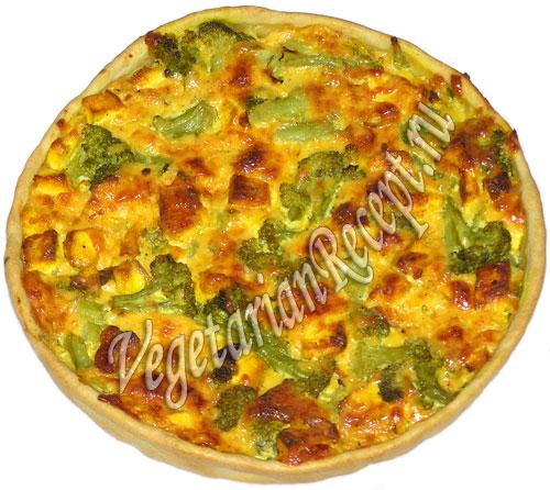 пирог из брокколи