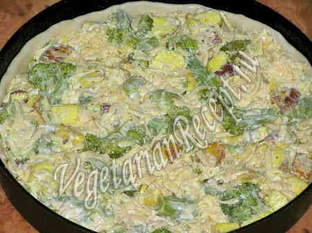 приготовление пирога с брокколи
