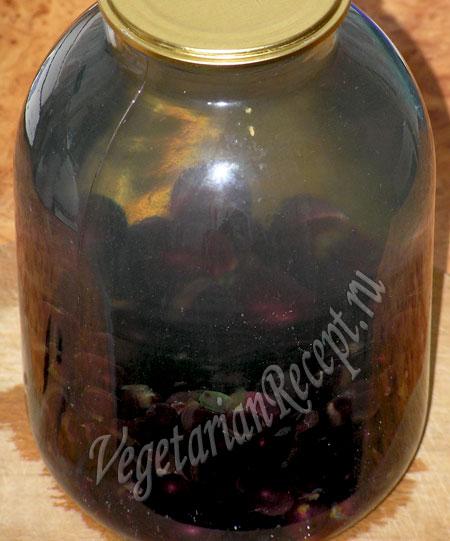 приготовление компота из винограда