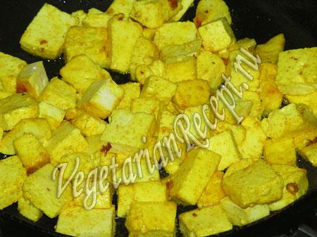 обжаривание сыра для начинки пирога